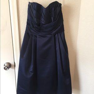 Blue tea length dress